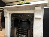 Late Victorian Marble Fireplace Surround