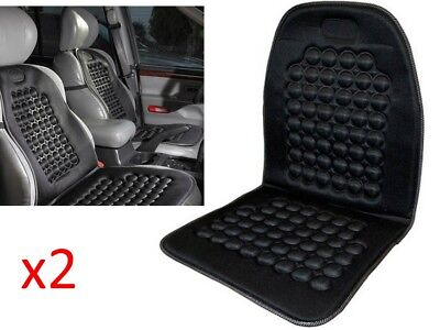 2x Car Seat Cushion Protector Universal Orthopaedic Padded Massage Back Van Taxi