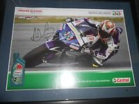 Signed Motorbike Racing Photos Framed Lorenzo and Melandri