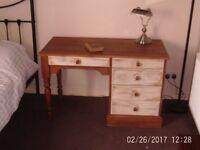 Vintage Solid Pine Computer desk/Dressing Table