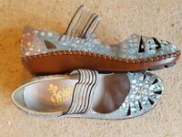 Ladies Leather Reiker Casual Shoes Size 4 (37)
