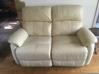 Leather Sofa 2 Seater Power Recliner