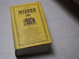 Wisden Cricketers Almanac 1999 hard back with dust cover