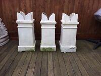 Three Victorian Chimney Pots