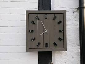 Wooden dominoes clock