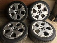 "AUDI A3 S3 8P 2004-12 GENUINE 17"" INCH ALLOY WHEELS WITH TYRES LIKE NEW cheap £130 quick sale sale"