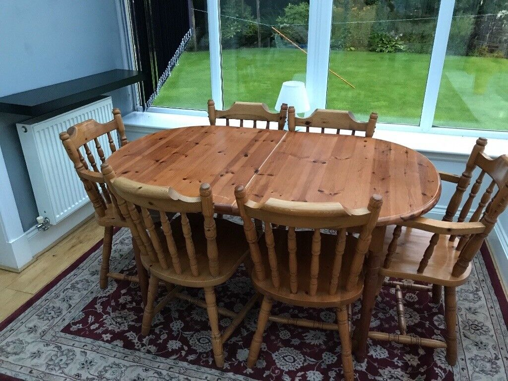 Wooden Table And Chairs In Stewarton East Ayrshire Gumtree