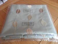 "Fabric Green Taffeta Leaf Bronze Beige Cream 2 Meters x 57"" New"