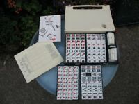 Vintage MahJong Set by John Jaques of London Complete Instructions Score Sheets Excellent Condition