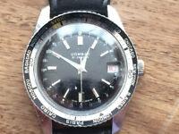 Vintage Divers Watch 21 Jewels (Breitling) Combat 1960s world time bezel