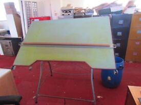 Large tilting architect drawing board