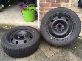 4x Winter Tyres from Peugeot 307