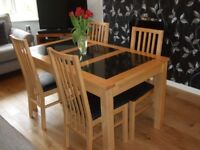 Modern and Stylish Solid Wood Dining Table and Chairs