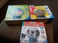 3x puzzle ball jigsaws