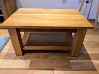 Pinetum Quercus premium solid oak coffee table