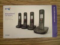 BT ADVANCED QUAD HOME PHONE BRAND NEW BOXED ANSWER MACHINE 4 PHONES HANDSETS CALL BLOCK BARGAIN L@@K