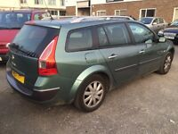 RENAULT MEGANE II 1.5 DEISEL ESTATE , SPARES REPAIR LOADS OF NEW PARTS BUT NEEDS DUEL MASS CLUTCH