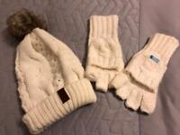 Superdry woolly hat and fingerless gloves/mittens. Never worn.