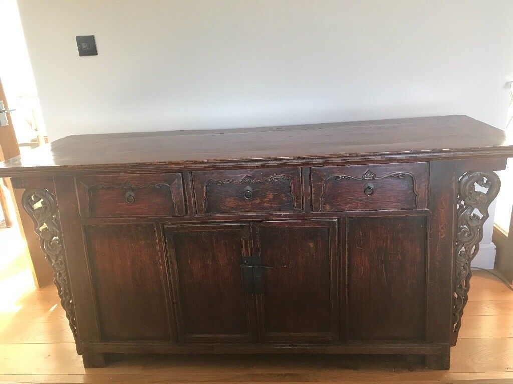 Stunning Sideboard - original Chinese with beautiful carving