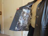 Ladies Very Soft Leather Grey Coat - Brand New