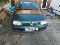 Volkswagen, GOLF, Hatchback, 2001, Manual, 1896 (cc), 3 doors
