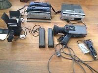Vintage Ferguson Videostar camcorder and accessories
