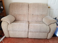 G-PLAN RECLINING FABRIC SUITE ( 2 SEATER & 1 SEATER )