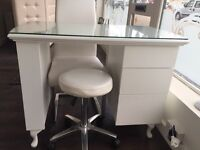 Beautiful manicure nail desk and chair