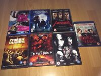6 horror/assorted DVDs and one blue ray