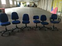 Selection of office chairs - height adjustable