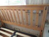Wooden Ottoman DOUBLE Bed Frame
