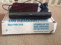 Sky + HD 2TB Wifi Box with Remote and Leads