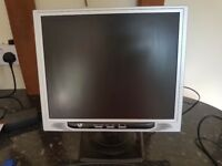 """VideoSeven E17PS 15"""" monitor with power and vga cables"""
