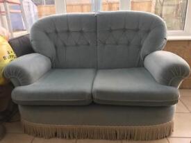 2 seat sofa- duck egg blue