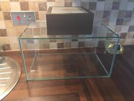Fluval Edge 23 Litre Fish Aquarium - Glass Tank and Cover Only
