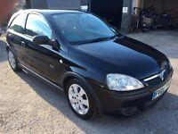 Vauxhall Corsa SXi 1.4i, 2005/05 Reg, BRAND NEW MOT, Full Service History, 3 Door Hatchback, Black