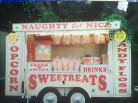 candy floss and sweets truck/kiosk