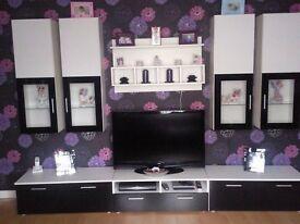 8 piece high gloss livingroom furniture set with LED