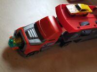 Hotwheels Truck with 6 Hotwheels cars
