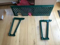 AGA - Cast Iron cooling rack and support - Racing green, width of a 2 oven aga