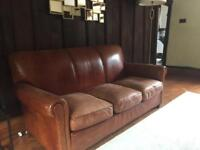 Leather Sofa & Armchair From The Conran Shop
