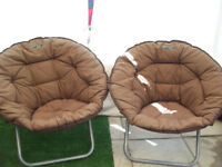quest folding moon chairs for camping caravan mid brown vgc £25 ea or both £40 no offers