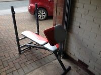 York folding bench press ideal for beginners!