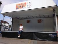 STAGE FOR HIRE, 6M X 4M COVERED STAGE, £350 PER DAY. LIVE BANDS, EVENTS, FETES, FUN DAYS,