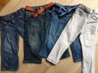 Jeans x 4, size 2-3 years