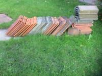Ridge and roofing tiles