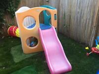 Kids childrens playground little tikes frame and slide set