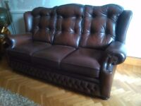 Sofa 3+1+1 real leather excellent condition
