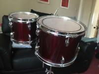 2 gretch Blackhawk toms wine red