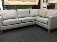 NEW / Ex Display DFS Grey Fabric Corner Sofa